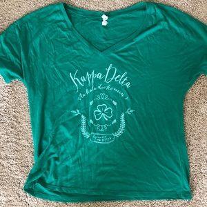 Kappa Delta soft vneck T-shirt